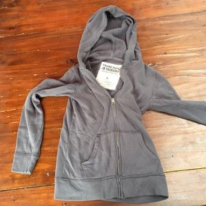 Threads 4 thought grey zip up hoodie sz S
